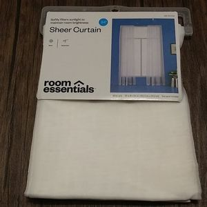 Room Essentials Accents - Room essentials sheer curtain 84""